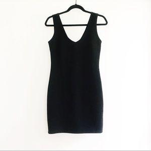 Forever 21 Black Ribbed Dress M